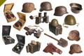 Vintage Army Objects Big Set Isolated. Stock Image - 16702141