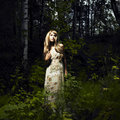 Girl In Fairy Forest Stock Photos - 16706933