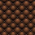 Buttoned Brown Leather Royalty Free Stock Images - 16710099