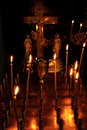 Burning Candles On Altar Royalty Free Stock Image - 16714026