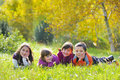 Little Boys And Girls Laying Down Stock Images - 16717324