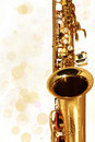 Golden Sax. Music. Holiday Stock Photo - 16724240