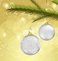 Christmas Background With Ball Decorations Royalty Free Stock Images - 16724609