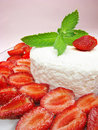 Strawberry Dessert With Pudding Stock Photography - 16732132