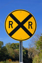 Railroad Crossing Road Sign Stock Images - 16736674