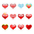 Vector Set Of Saint Valentine S Day Red Hearts Royalty Free Stock Images - 16736879