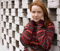 Outdoor Portrait Of Beautiful Redhair Woman Royalty Free Stock Photos - 16741758