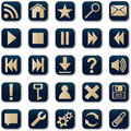 Square Icons Button Set Stock Photography - 16743662