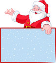 Santa Claus Over Greeting Card Royalty Free Stock Images - 16750399