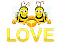 Bee In Love Royalty Free Stock Photo - 16754015