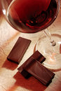 Wine And Chocolate Royalty Free Stock Photo - 16768055