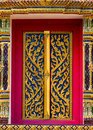 Arts Temple Doors Carved Patterns. Royalty Free Stock Photo - 16775195
