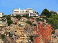 House On Bluff Royalty Free Stock Photography - 16777087
