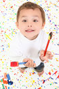 Boy Child Painting Stock Photography - 16788202