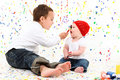 Boy Girl Child Painting Stock Images - 16788204