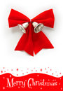 Red Christmas Bow With Bell Royalty Free Stock Photos - 16801508