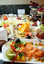 Cheese, Fish And Fruits In Expensive Hotel Royalty Free Stock Image - 16803596