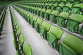 Rows Of Folded Seats In Empty Stadium Royalty Free Stock Images - 16817479