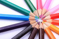Line Of Coloured Pencils Royalty Free Stock Photos - 16821678