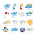 Weather Report  Icon Set Royalty Free Stock Image - 16827556