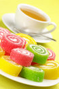 Colorful Candy And Tea Royalty Free Stock Photography - 16842897