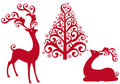 Reindeer With Christmas Tree,  Royalty Free Stock Image - 16857696