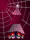 Gothic Christmas Greeting Card Tree And Cobweb Stock Images - 16878444