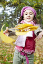 Cute Girl In Autumn Park Stock Photography - 16884102