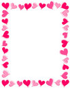 Pink Hearts Border Royalty Free Stock Photography - 16886787