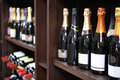 Wine And Champagne Bottles In Liquor Store Stock Photos - 16891633