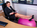 Business Woman Resting Legs Royalty Free Stock Photo - 16912955