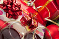 Holiday Gifts And Wine Glasses Royalty Free Stock Image - 16913886