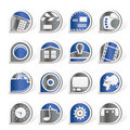 Internet, Computer And Mobile Phone Icons Stock Photos - 16916033