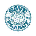 Save The Planet Stamp Stock Photography - 16925942