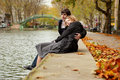 Dating Couple In Paris Royalty Free Stock Photography - 16946817