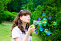 Smile Teen With Soap Bubbles Stock Image - 16963851