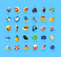 Realistic Icons Set For Interface Royalty Free Stock Images - 16965609