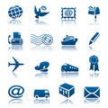 Mail & Delivery Icon Set Royalty Free Stock Photo - 16966565