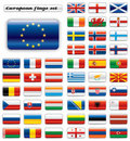 Extra Glossy Button Flags - Europe Royalty Free Stock Photo - 16970955