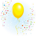 Balloon With Dangling Curly Ribbon Royalty Free Stock Photography - 16983147