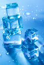 Five Melting Ice Cubes Royalty Free Stock Photo - 16998215