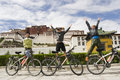 Trip To Tibet By Bike  Successfully Stock Photography - 16999452