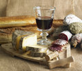 Red Wine And Cheese Royalty Free Stock Images - 17019259