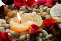 Candle And Petals Royalty Free Stock Photo - 17029255