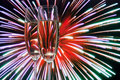 Glasses With Champagne Against Fireworks Stock Image - 17034481