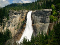Waterfall In Yosemite Stock Image - 17042501