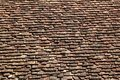 Square Roof Tiles Plain Clay Pattern Weathered Stock Photography - 17044792