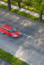 Cars Moving Fast On A Road Stock Images - 17055764