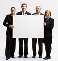 Business People Holding Blank Paper Royalty Free Stock Images - 17055839