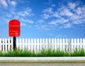 Red Post Box Stock Photos - 17059093